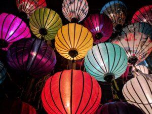 Lampionnen tijdens Sint-Maarten